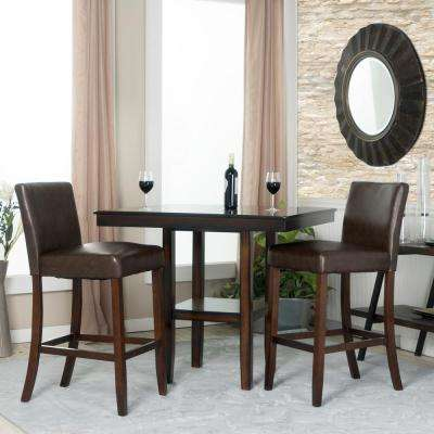 Berkley 30 in. Chocolate Brown Faux Leather Bar Stool (Set of 2)