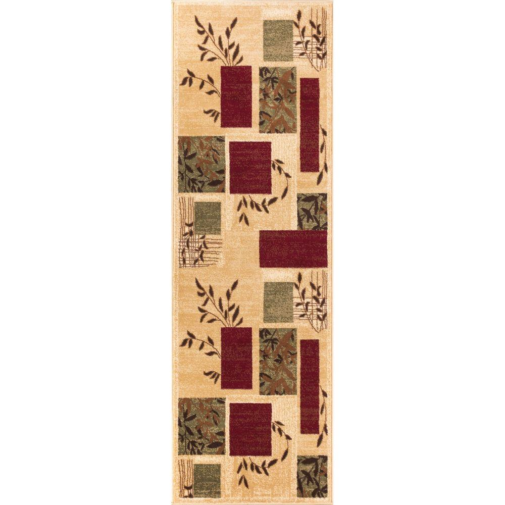 Well Woven Barclay Hannover Ivory 2 ft. 7 in. x 9 ft. 6 in. Modern Geometric Runner