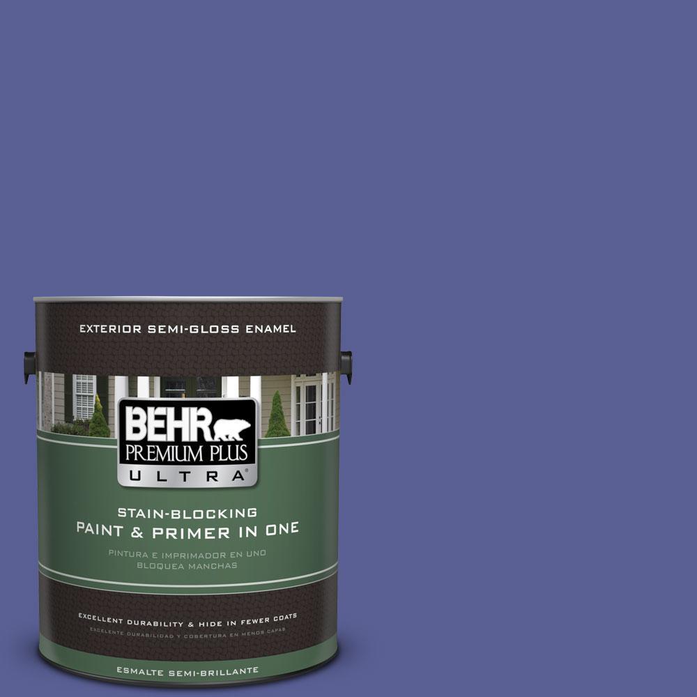 BEHR Premium Plus Ultra 1-gal. #S-G-620 Wizard Semi-Gloss Enamel Exterior Paint
