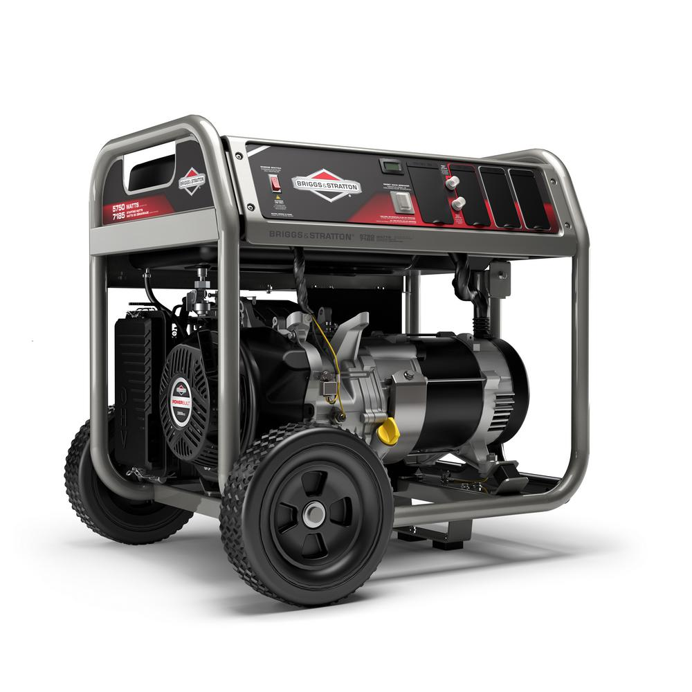 Briggs U0026 Stratton Home Series 5,750 Watt Gasoline Powered Recoil Start Portable  Generator With OHV