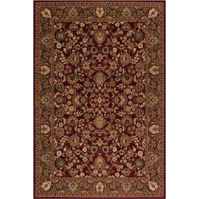 Persian Classic Mahal Red Rectangle Indoor 9 ft. 3 in. X 12 ft. 10 in. Area Rug