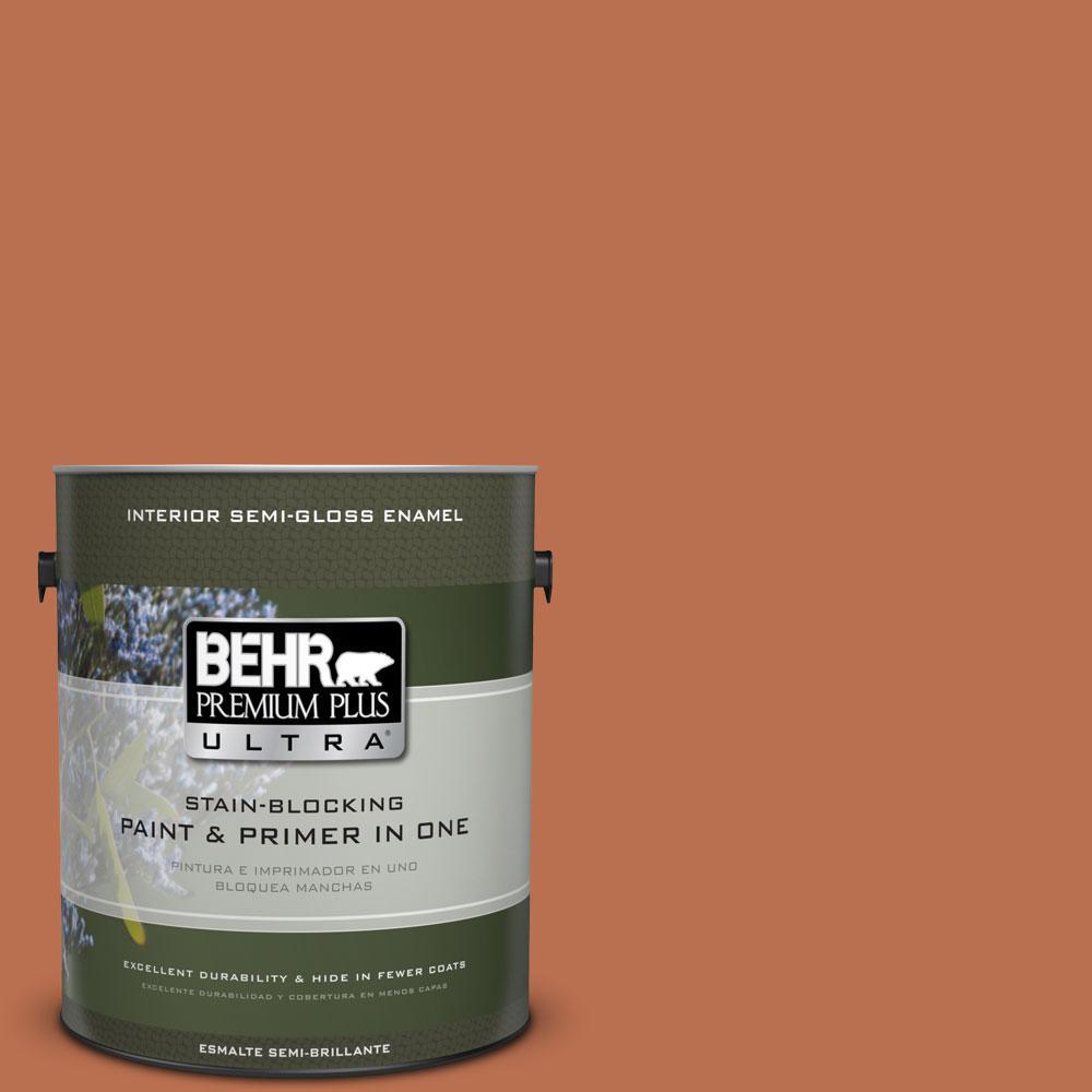 1-gal. #230D-6 Iced Tea Semi-Gloss Enamel Interior Paint