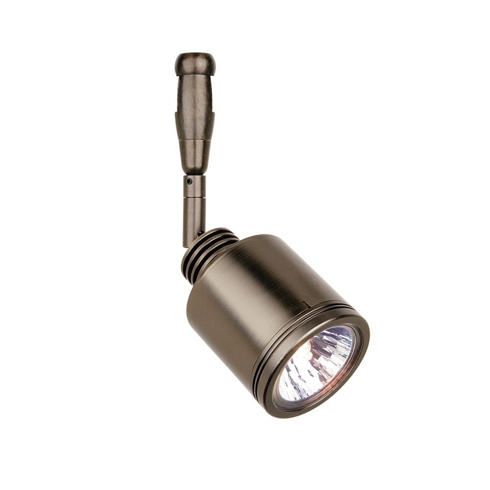 LBL Lighting Rev Swivel 1-Light Satin Nickel Track Lighting Head Rev Swivel 12 in. 1-Light Satin Nickel Halogen Track Lighting Head easily blends with your home's existing decor. This satin nickel finished fixture combines function and style. Simple cylinder swivel. Swivels 360°; head tilts 90°.