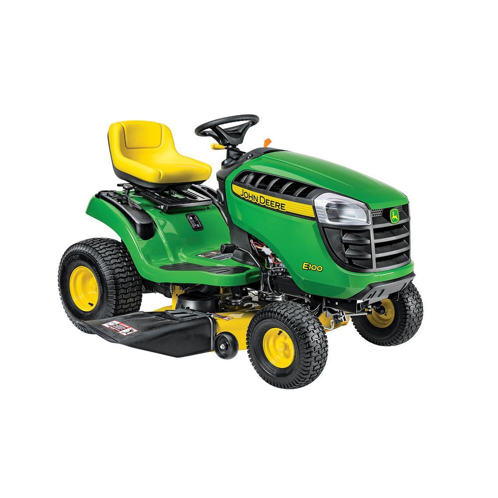 John Deere E100 42 inch 17.5 HP Gas Automatic Lawn Tractor by John Deere
