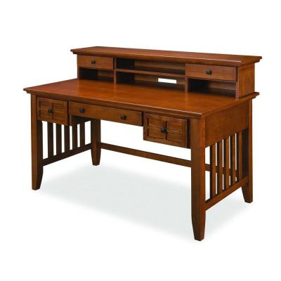 Home Styles Arts And Crafts Cottage Oak Desk With Hutch 5180 152 The Depot
