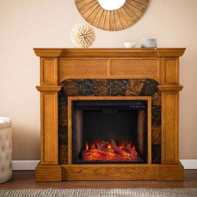 Shorvell Alexa Enabled 46 in. Electric Fireplace in Mission Oak