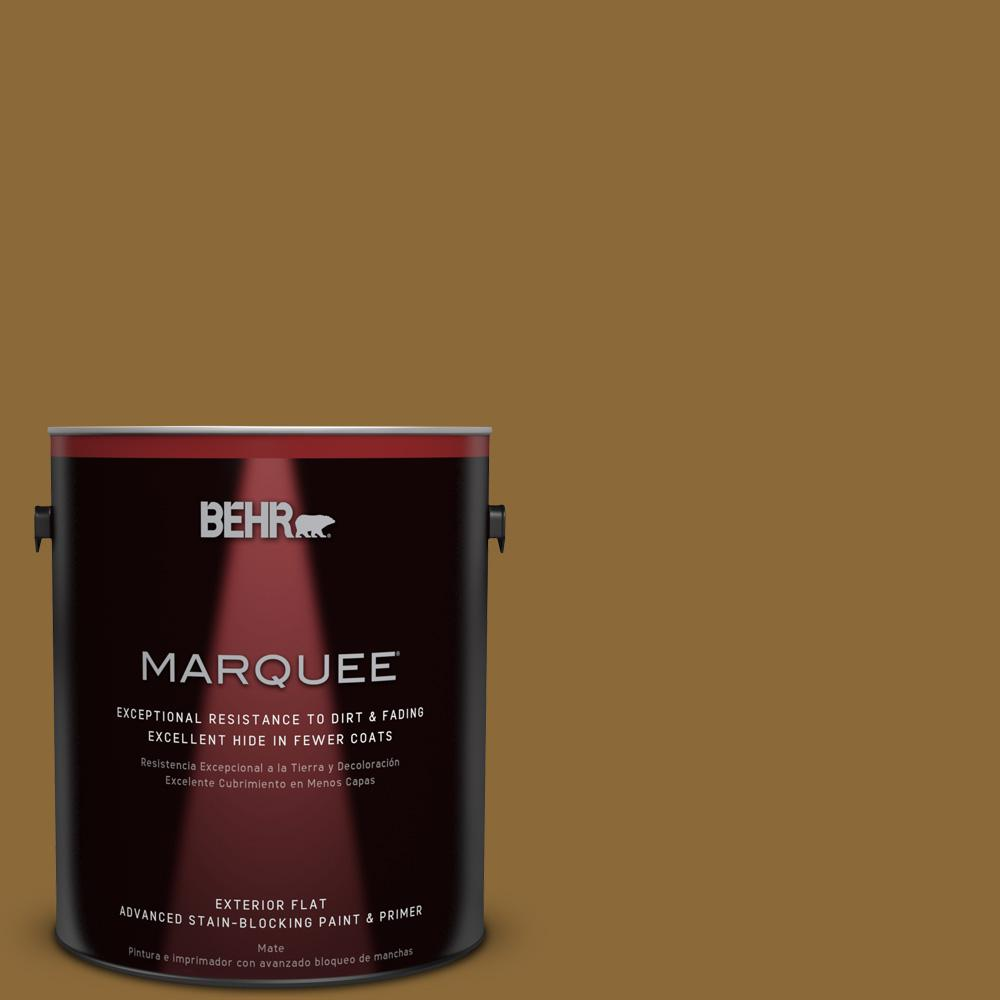 BEHR MARQUEE 1-gal. #310F-7 Carmel Woods Flat Exterior Paint