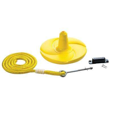 Disk Swing with Rope- Yellow