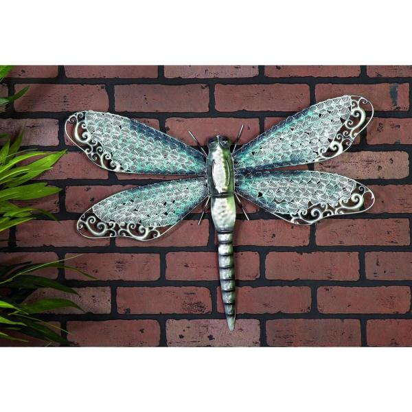 Litton Lane NATURAL REFLECTIONS 16 IN. X 25 IN. DRAGONFLY WALL