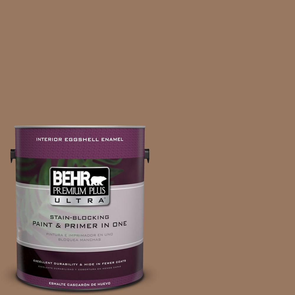 1 gal. #ECC-40-3 Seasoned Acorn Eggshell Enamel Interior Paint and Primer