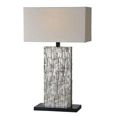 Luna 28 in. Silver Leaf Table Lamp