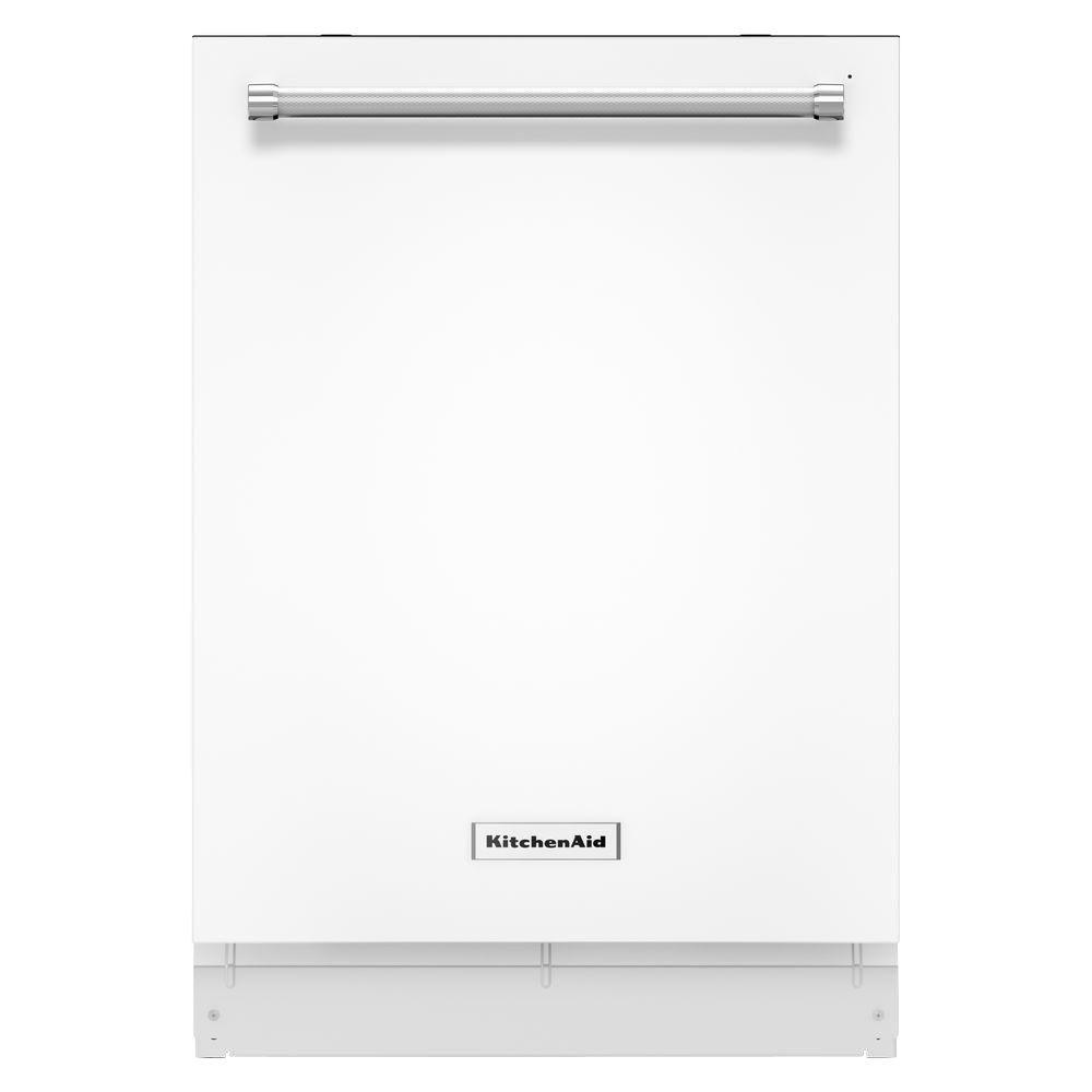 KitchenAid Top Control Dishwasher in White with Stainless Steel Tub, ProWash Cycle, 46 dBA