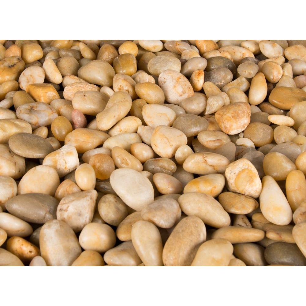 MSI 40 lb. Small Yellow Polished Pebbles Bag