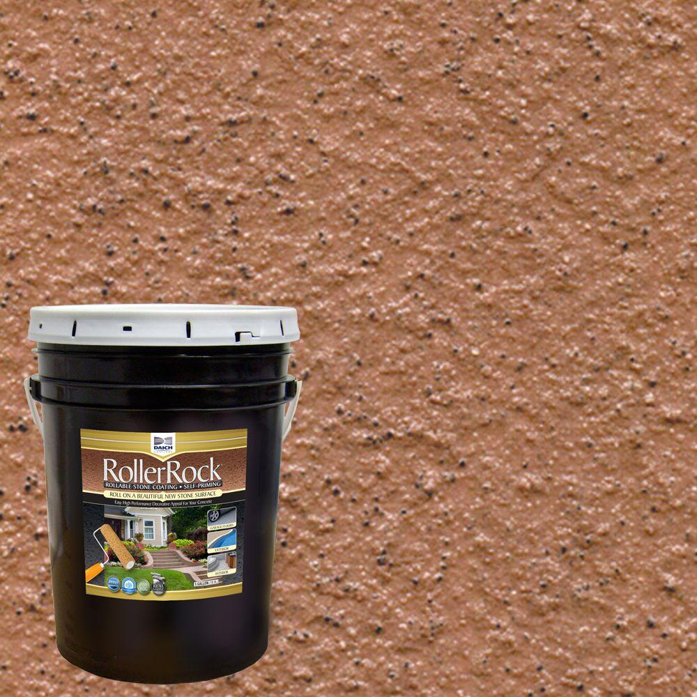 DAICH RollerRock 5 Gal. Self-Priming Cinnamon Exterior Concrete Coating