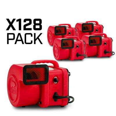 1/4 HP Mini Air Mover for Water Damage Restoration Carpet Dryer Floor Blower Fan in Red (128-Pack)