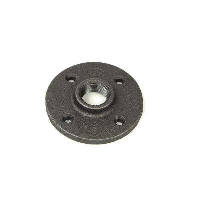 2 in. Black Malleable Iron FPT Floor Flange (6-Pack)