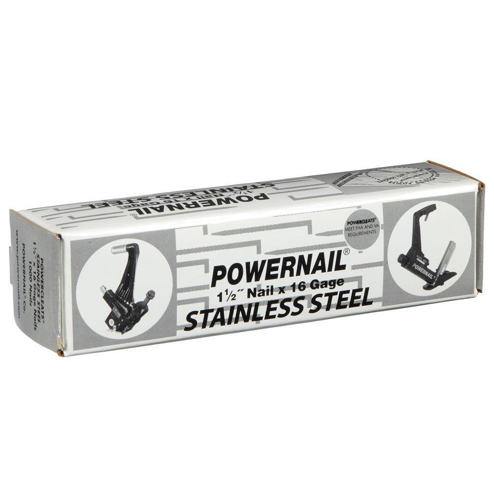 1-1/2 in. 16-Gauge Powercleats Stainless Steel Hardwood Flooring Nails (1,000-Count)