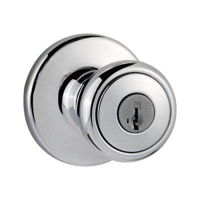 Tylo Polished Chrome Entry Door Knob Featuring SmartKey Security