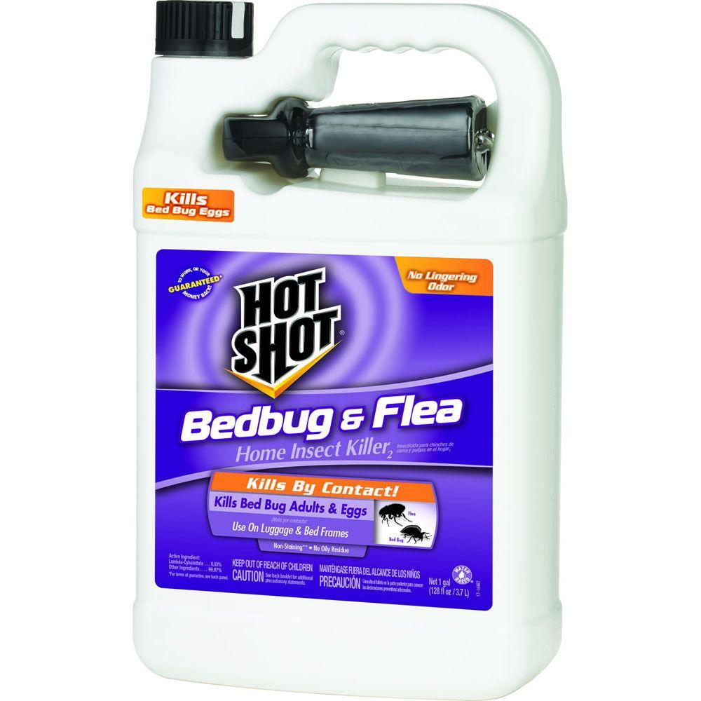 hot shot bed bug and flea killer 1 gal. ready-to-use sprayer-hg