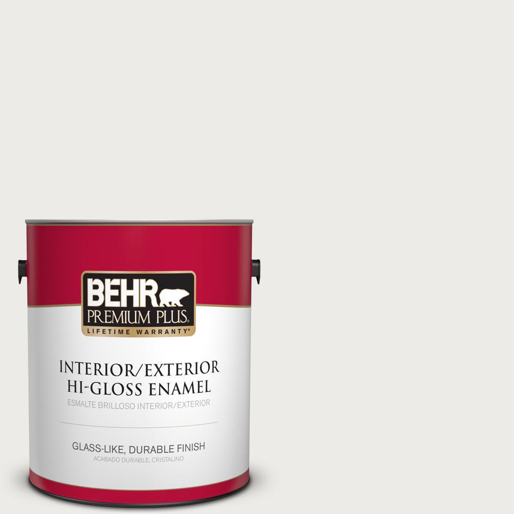 1 gal. #PPU12-12 Gallery White Hi-Gloss Enamel Interior/Exterior Paint
