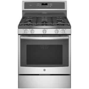Click here to buy GE Profile 5.6 cu. ft. Gas Range with Self-Cleaning Convection Oven in Stainless Steel by GE.