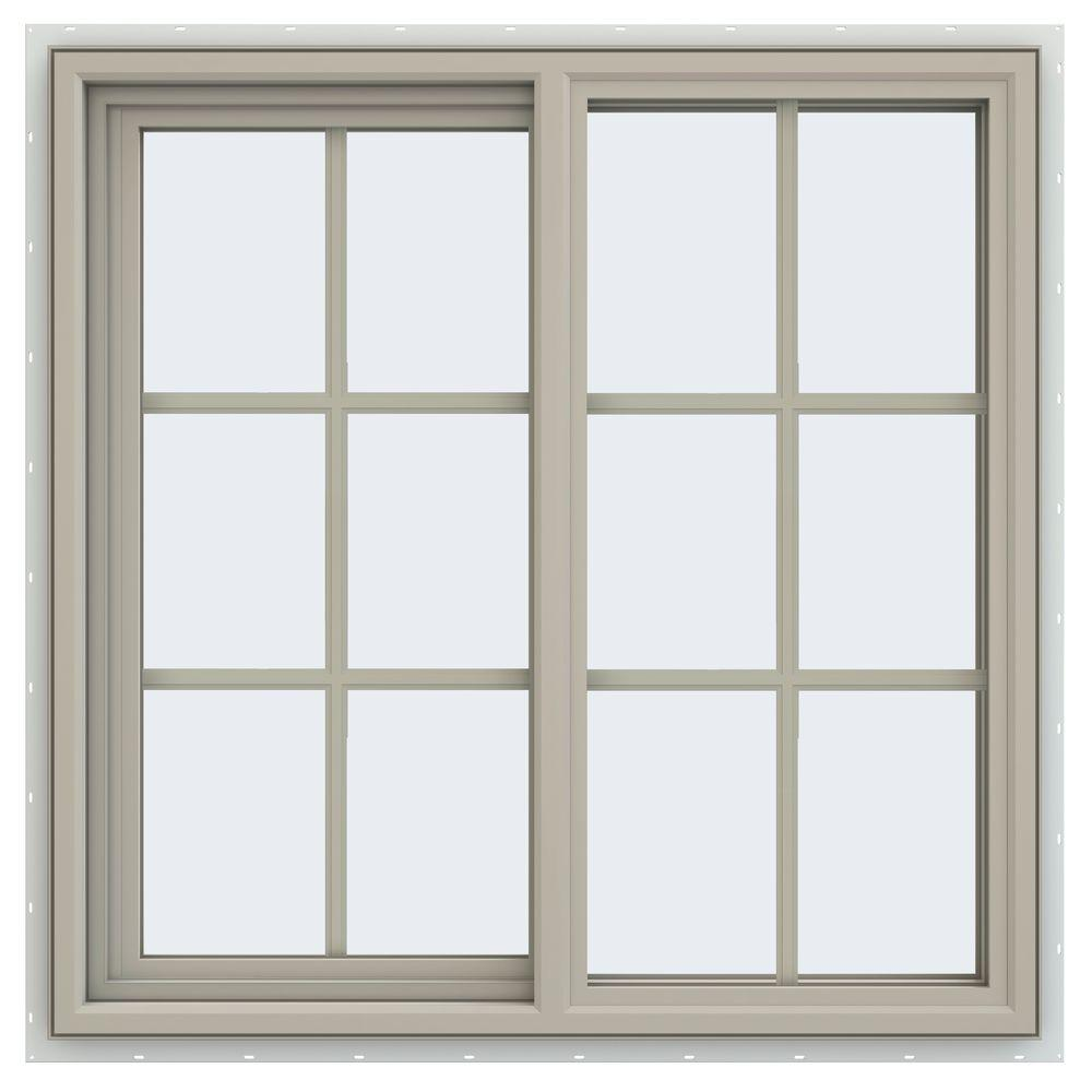 Double pane sliding windows windows the home depot for What are the best vinyl windows