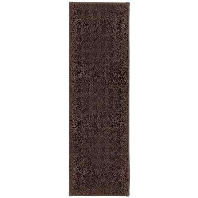 Vista Indoor Stair Tread Covers in Chocolate 9 in. x 29 in. Stair Tread Cover Set (Set of 4)
