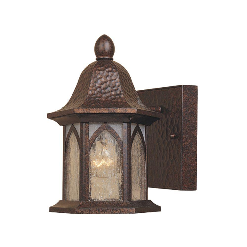 Designers Fountain Charleston Burnished Antique Copper Outdoor Wall-Mount Lamp