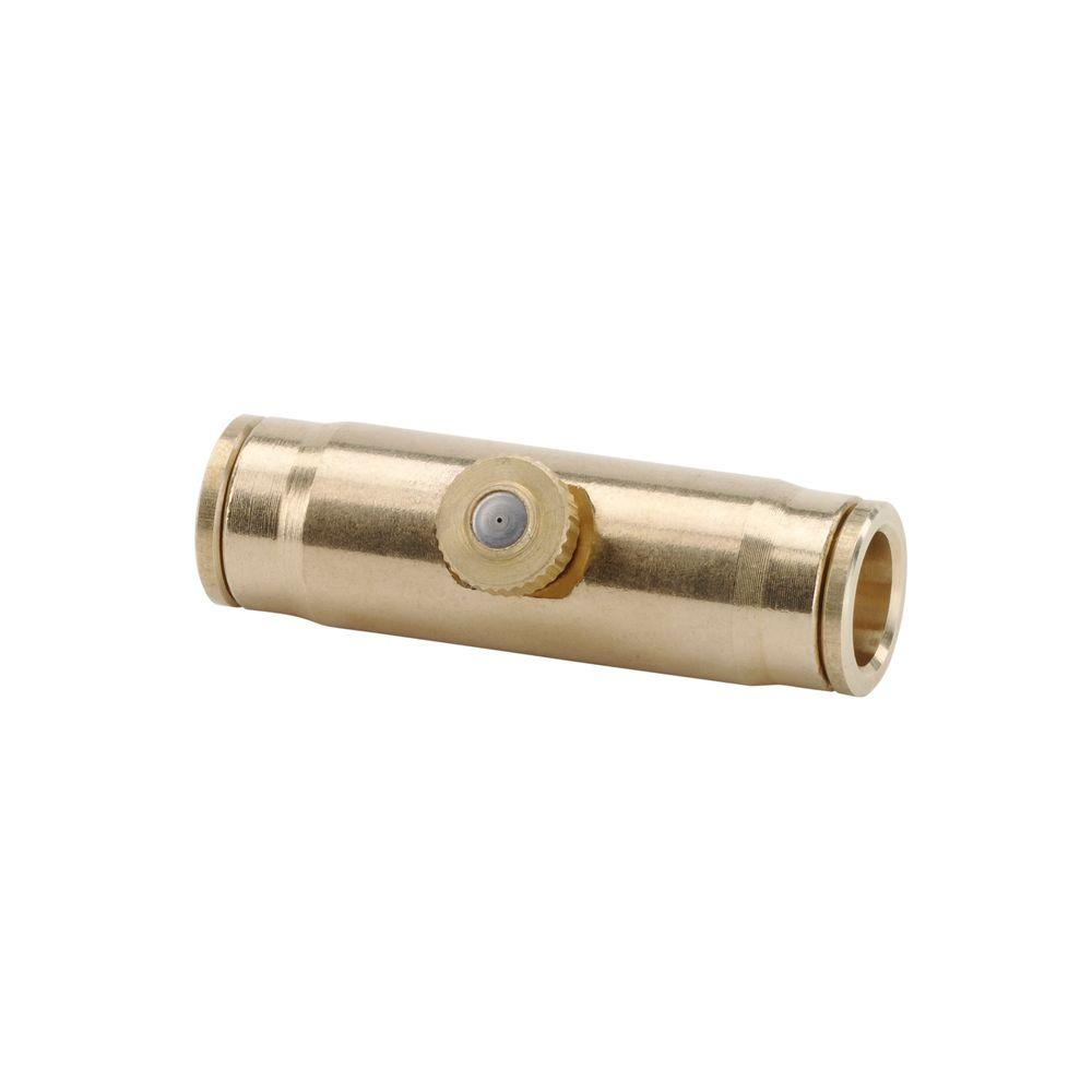 Arctic Cove 3/8 in. Brass Slip Lock Connector with Nozzle