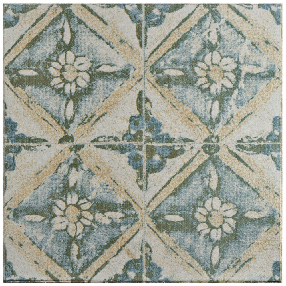 Klinker Retro Blanco Dafodil 12-3/4 in. x 12-3/4 in. Ceramic Floor