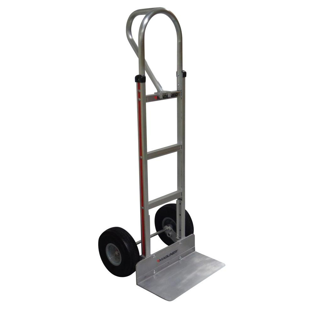 500 lb. Capacity Aluminum Hand Truck with Vertical Loop Handle, Extruded