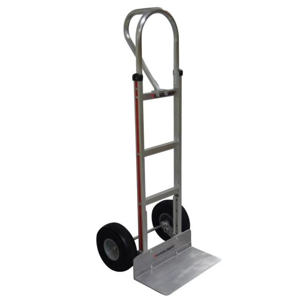 Magliner 500 Lb Capacity Aluminum Hand Truck With Vertical Loop Handle Extruded Nose Plate And Microcellular Foam Wheels Hmk15ag2c The Home Depot
