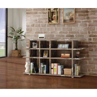 Embellishing Brown Wooden Open Bookcase