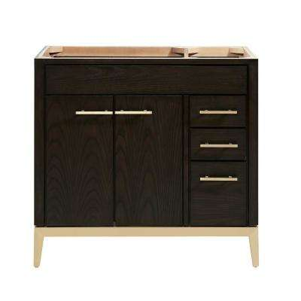 Hepburn 36 in. W x 21.5 in. D x 34 in. H Bath Vanity Cabinet Only in Dark Chocolate