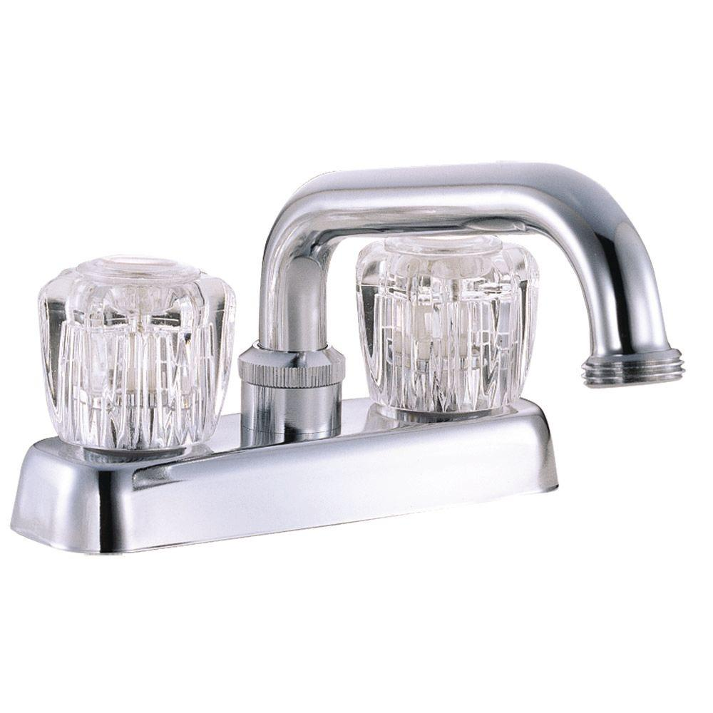 Design House 2-Handle Laundry Faucet in Polished Chrome