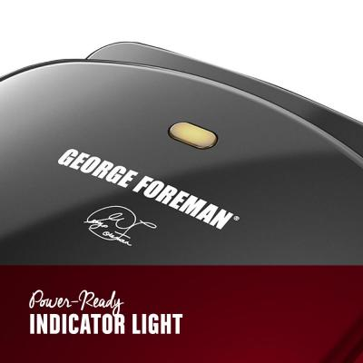 George Foreman-2-Serving Classic Plate Electric Indoor Grill and Panini Press