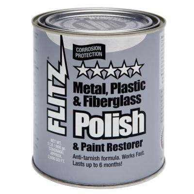 2 lbs. Blue Metal, Plastic and Fiberglass Polish Paste Quart Can