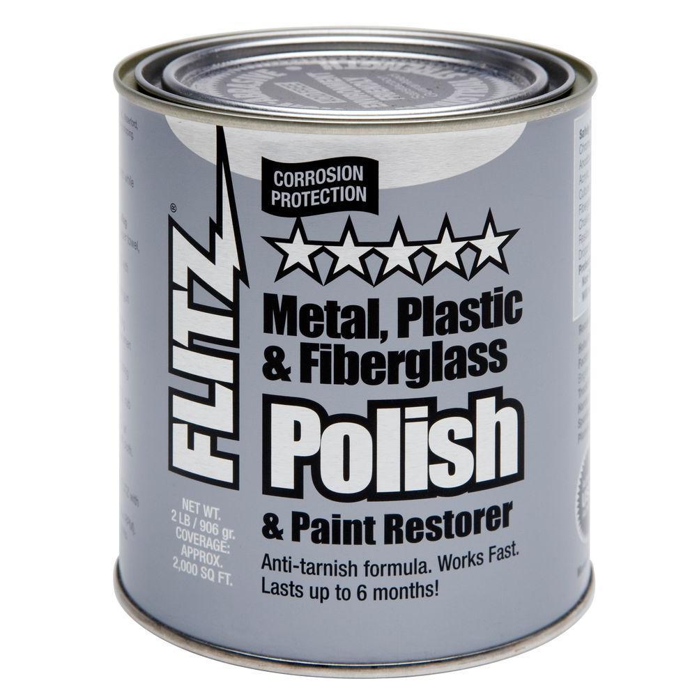 2 lbs. Blue Metal, Plastic and Fiberglass Polish Paste Quart Can