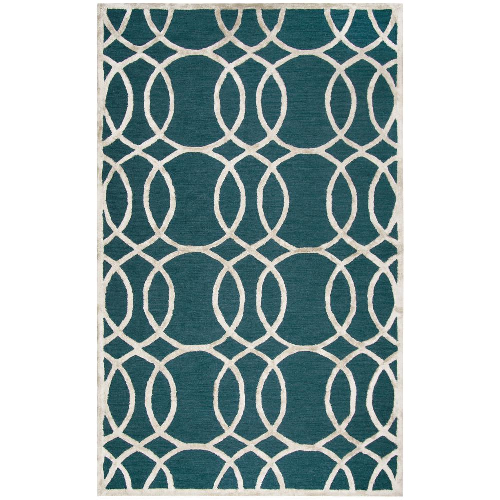 Rizzy Home Monroe Dark Teal 9 Ft X 12 Ft Area Rug