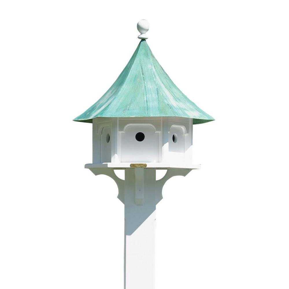 Good Directions Lazy Hill Farm Designs Carousel Birdhouse With Blue Verde Copper Roof 43406 The Home Depot
