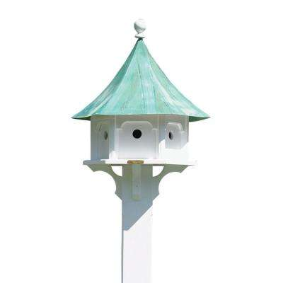 Lazy Hill Farm Designs Carousel Birdhouse with Blue Verde Copper Roof