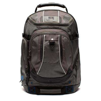 Load Factor 19 in. Black/Gray Padded Laptop Backpack