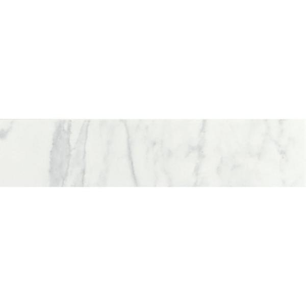 Marissa Carrara 3 in. x 10 in. Ceramic Bullnose Wall Tile (0.208 sq. ft./ piece)