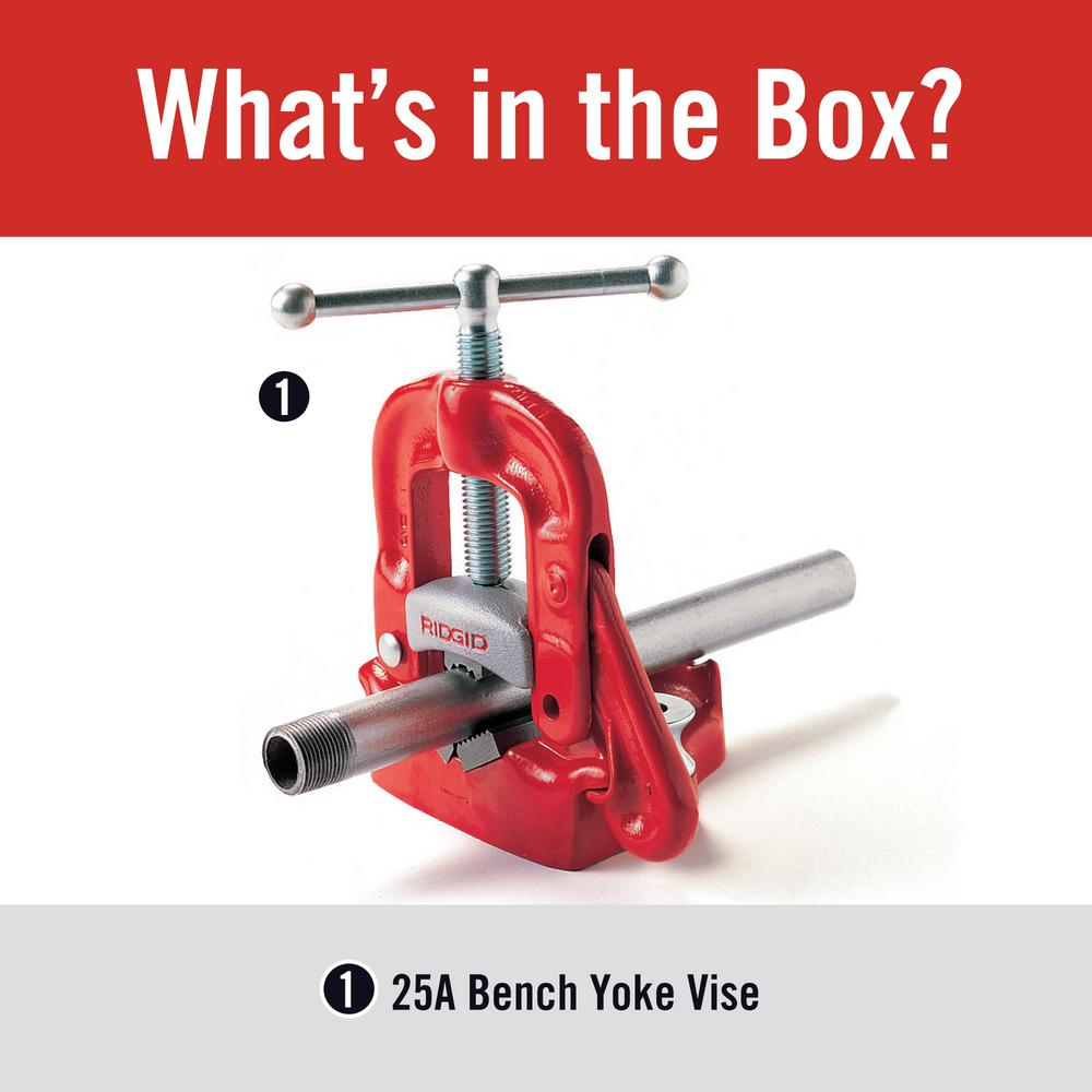 RIDGID 40100 Bench Yoke Vise,1//8 to 4 In.