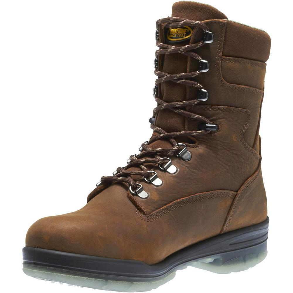 a49336a8781 Wolverine Men's I-90 Durashocks Size 12EW Brown Nubuck Leather Waterproof  Steel Toe 8 in. Boot