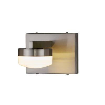 Justice Design Fusion Puck 6 In Brushed Nickel Led Wall Sconce With Opal Glass Shade Fsn 8991 Opal Nckl The Home Depot