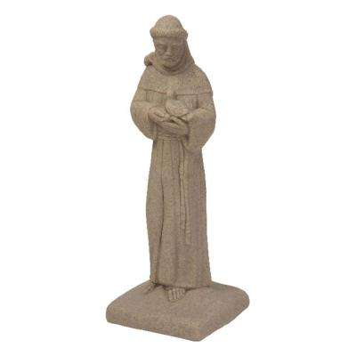 Sandstone High Density Resin St. Francis Statue