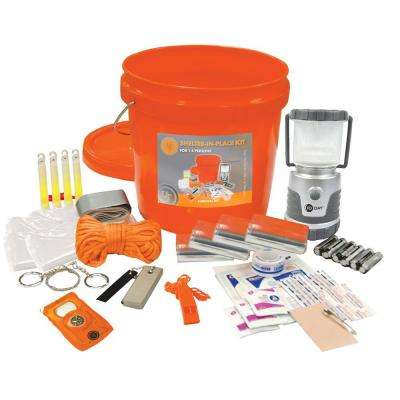 Shelter-In Place Survival Kit in Orange (31-Piece)