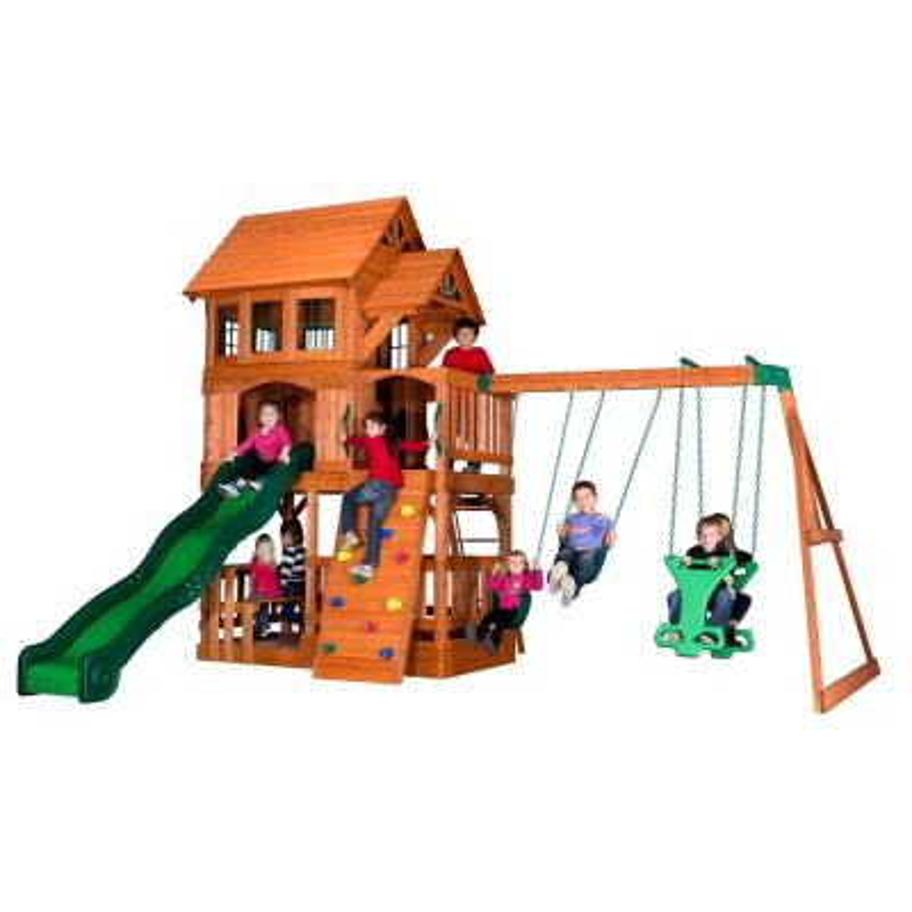 Backyard Discovery Caribbean All Cedar Swing Set 1606029com The