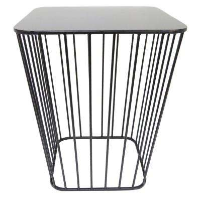 18.9 in. H Black Metal Modern Decorative Stand